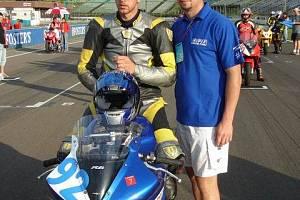 Třetí jezdec týmu Josef Brtek z Odřeps hájil baarvy ve třídě Supersport.