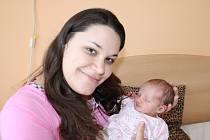 VIKTORIE JE Z PODĚBRAD. Viktorie Veselá přišla na svět 6. dubna 2013 v 8.15 hodin s mírami 2 660 g a 48 cm. Devítiletá Natálka má tak novou sestru, ze které se radují rodiče Lucie a Pavel.