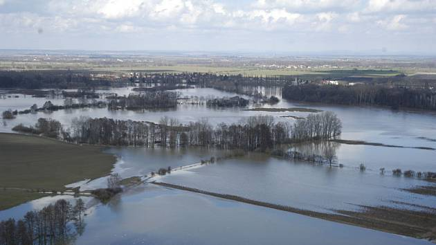 Tak vypadalo Nymbursko při povodních v roce 2006