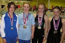 Nymburská plavecká štafeta děvčat