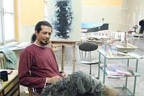 Kubánský výtvarník žijící v Poděbradech Mario Ismael de la Paz Roa