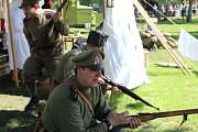 Členové klubů vojenské historie a legionářské obce z celé České republiky připomněli pod nymburskými hradbami události z července roku 1917.