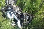 Tragická dopravní nehoda na silnici I/11 u Opočnice.