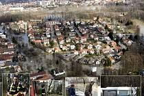 Archivní foto povodní v Polabci z roku 2006