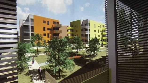 Jedna z prvních vizualizací areálu bývalé Fruty v Lysé nad Labem, kterou firma MS Development představila obyvatelům města.
