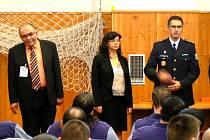 Ministryně práce a sociálních věcí Michaela Marksová - Tominová zahájila nový školní rok pro učně ve věznici v Jiřicích