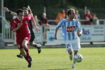 Z fotbalového utkání druhé ligy Čáslav - Vítkovice (3:0)