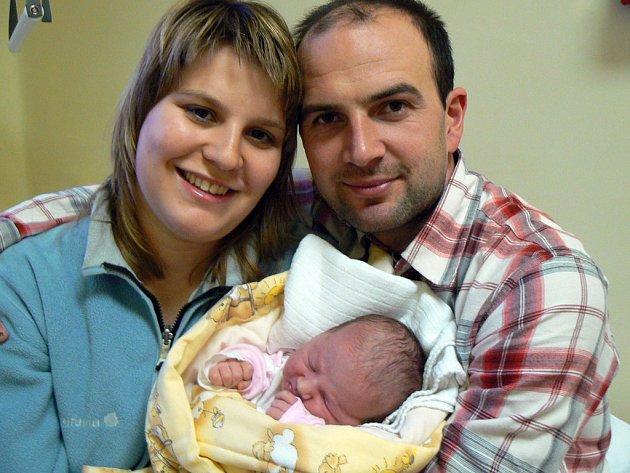 Nymbursko už má prvního občánka roku 2008 - Zuzanku Duškovou ze Sadské.
