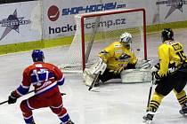 Z hokejového utkání druhé ligy Nymburk - Sokolov (4:2)