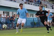 Z fotbalového utkání krajské I.A třídy Slaný - Libice nad Cidlinou (4:3)