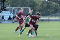 Z fotbalového utkání okresního přeboru Polaban Nymburk B - Bohemia Poděbrady B (2:0)