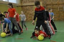 Už potřetí sportovaly na Tyršáku děti s ČEZ Basketballem