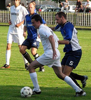 Z utkání I.B třídy Polaban Nymburk B - Paběnice (5:1).
