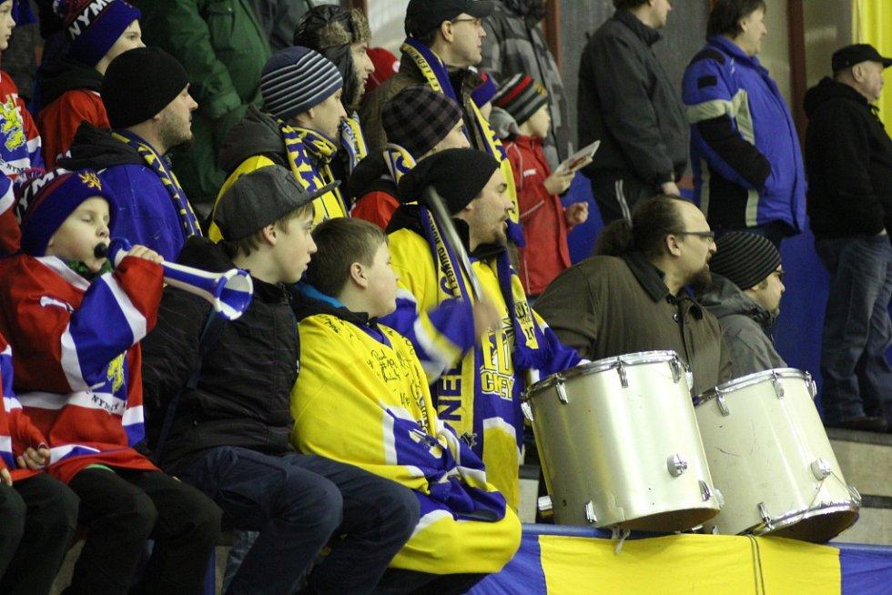 Z hokejového utkání předkola play off Nymburk - Žďár nad Sázavou