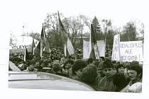 Generální stávka v Poděbradech 27. listopadu 1989