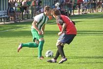 Z okresního fotbalového derby krajského přeboru Polaban Nymburk - Bohemia Poděbrady (2:1)