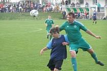 Z okresního derby fotbalového krajského přeboru Semice - Polaban Nymburk (2:0)
