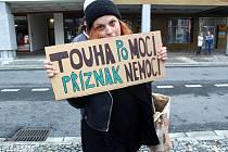 Demonstrace se konala na náměstí Přemyslovců v Nymburce.