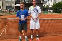 FINALISTÉ. Vlevo poražený Orlita, vpravo vítězný Michal Bíško ze Sparty Praha