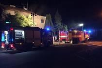 Požár pračky ve sklepě domu v Poděbradech.