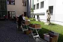 Burza knih v Městské knihovně Poděbrady.