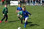 Nejmenší fotbalisté se proháněli na hřišti Polabanu Nymburk