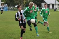 Fotbaloví mladší dorostenci Nymburka porazili tým Mělníka 4:2