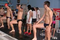 Z plaveckých závodů v Nymburce
