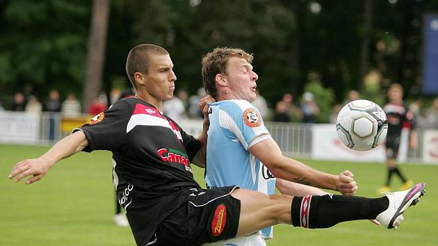 Z fotbalového utkání Mladá Boleslav - Slavia Praha na turnaji v Čelákovicích