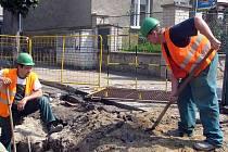 Výměna plynového potrubí v nymburské Komenského ulici
