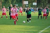 Z fotbalového utkání divizní skupiny B Polaban Nymburk - Souš (1:1, pen. 4:3)