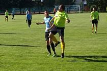 Z fotbalového utkání I.B třídy Sokoleč - Pečky (4:3)