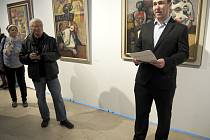 Vernisáží v Galerii Ludvíka Kuby začala výstava předního českého surrealisty Josefa Lieslera. Foto: Milan Čejka