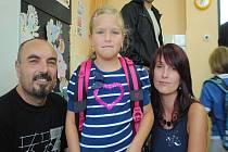 Hrdí rodiče Stanislav a Petra s dcerou Magdalénou