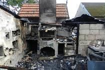 Požár rodinného domu ve Střihově.