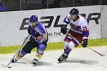 Z hokejového utkání druhé ligy Nymburk - Klášterec nad Ohří (13:4)