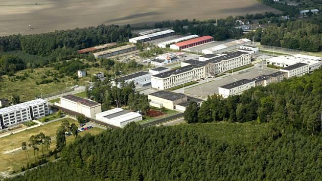 Jiřická věznice z oleteckého pohledu.