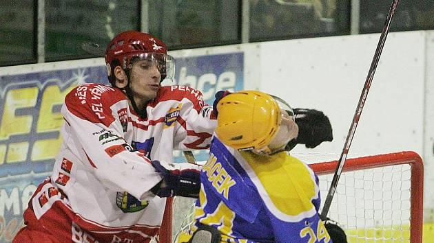 Z utkání druhé hokejové ligy Nymburk - Pelhřimov (5:4)