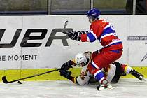 Z utkání druhé hokejové ligy Nymburk - Jablonec (4:3)