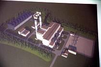 Tak by měla vypadat elektrárna o rozloze 300 x 120 metrů, kterou chce u Mochova i přes nesouhlas všech okolních obcí a měst postavit RWE.