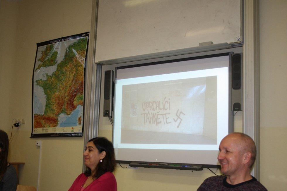 Studenti gymnázia besedovali s Íránkou Katrin