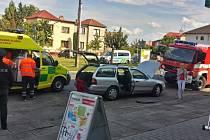 Kuriózní nehoda v Poděbradech