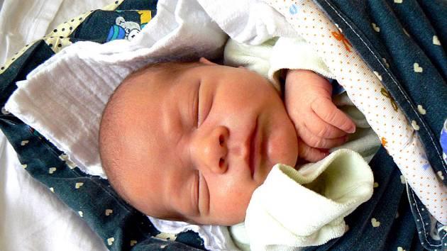 TÁTA SI KLUKA PŘÁL. Přání se tatínkovi Janovi splnilo v pátek 21. listopadu v 8.23 hodin, kdy se mamince Petře narodil syn Honzík Knobloch. Prvorozený měřil 50 cm a vážil 3380 g. Kompletní rodinka je doma v Lysé nad Labem.