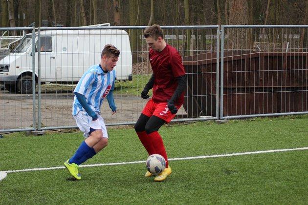 Z fotbalového utkání staršího dorostu Bohemia Poděbrady - Čáslav (0:5)