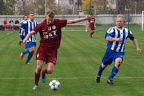 Z fotbalového utkání Bohemia Poděbrady - Sázava (5:0)