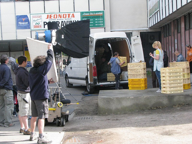 Filmaři točili v Poděbradech reklamu na Kofolu