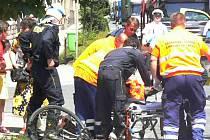 Na Boleslavské třídě došlo k vážné nehodě