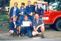 Družstvo mužů hasičů z Klipce.