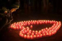 V Městci Králové by už mělo být připravené srdce ze 100 svící, které věnovala organizace Festival svobody. Ilustrační foto.