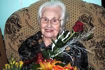 Z oslav stých narozenin paní Jitky Fialové.
